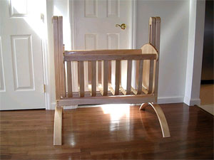 Child's Cradle - hand crafted, custom designed