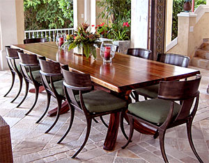 Custom, handcrafted Loggia Table